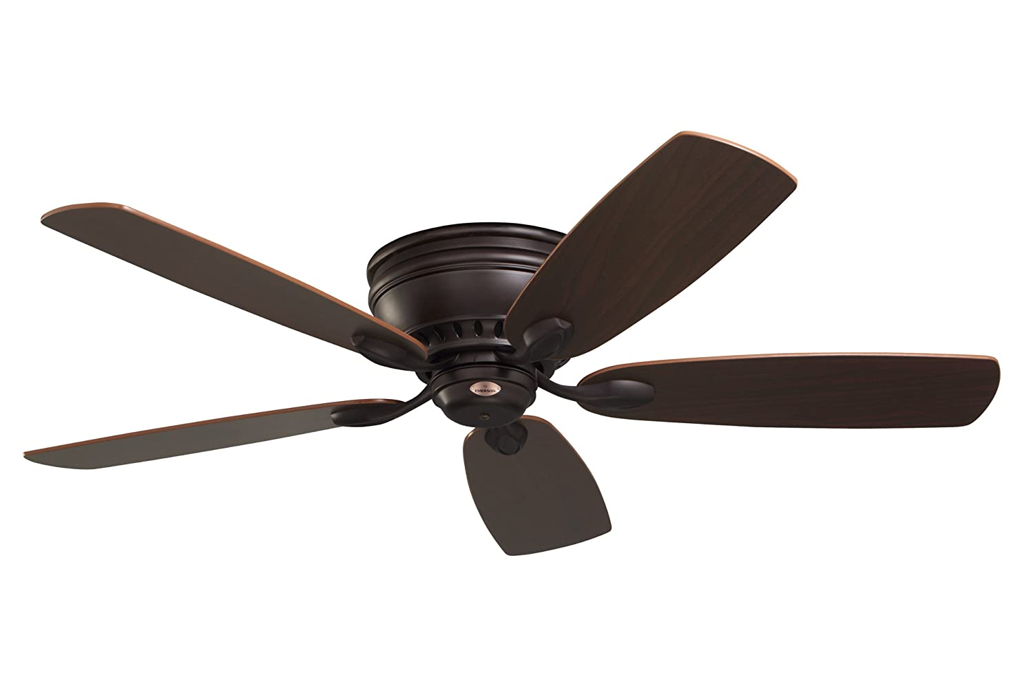 Emerson ceiling fans cf905orb prima snugger 52 inch low profile emerson ceiling fans cf905orb prima snugger 52 inch low profile ceiling fan with wall control light kit adaptable oil rubbed bronze finish flush mount aloadofball Image collections
