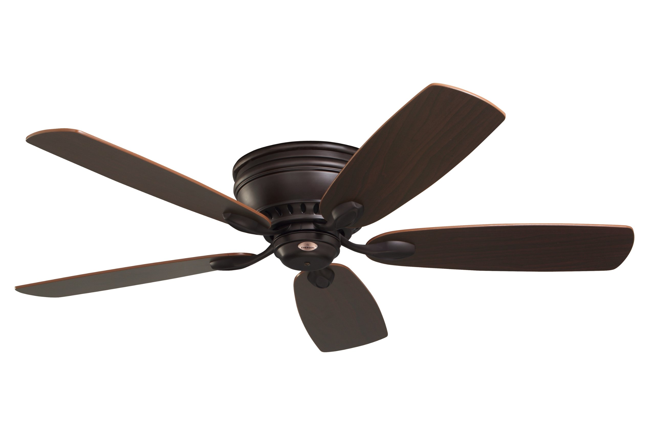Emerson Ceiling Fans CF905ORB Prima Snugger 52-Inch Low Profile Ceiling Fan With Wall Control, Light Kit Adaptable, Oil Rubbed Bronze Finish by Emerson