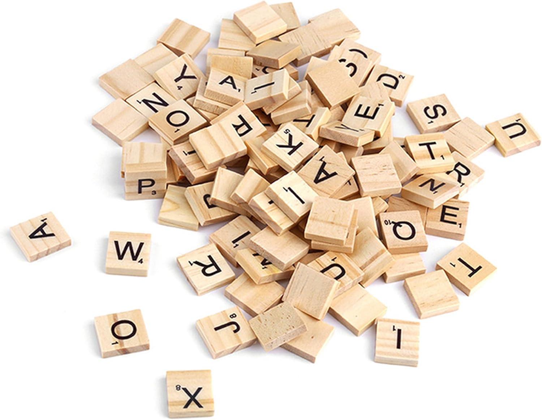 AllRight 200 Unidades Letras de Scrabble Madera Scrabble Azulejos Piedras de Scrabble Alfabeto de Tablero: Amazon.es: Juguetes y juegos