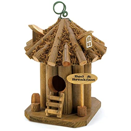Gifts Decor Bed And Breakfast Hanging Wooden Garden Bird House