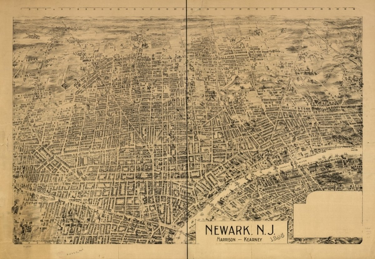 Amazon.com: 1895 map of Newark, New Jersey Newark, N.J, Harrison ...