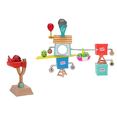Angry Birds Build N' Launch Playset: Pig City: Toys & Games
