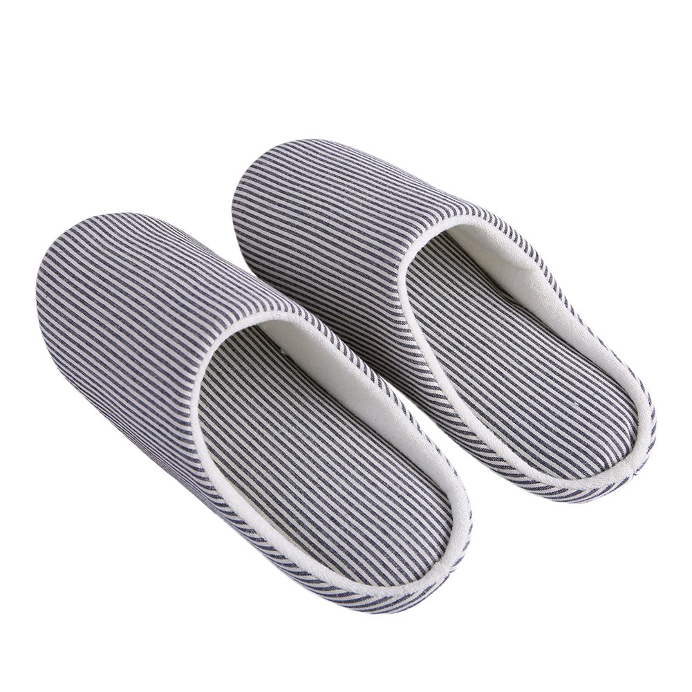 Oumanke Women and Men Slippers for Indoor House Hotel Traveling Navy L/Men US7.5-8.5