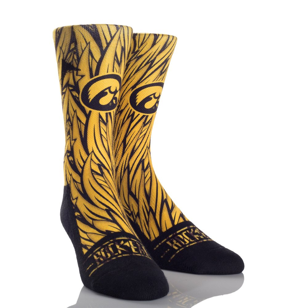 Rockem Apparel University of Iowa UI Hawkeyes Custom Athletic Crew Socks