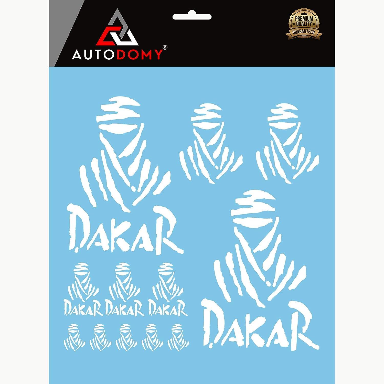 Autodomy Pegatinas Dakar Pack de 12 Unidades para Coche o Moto (Blanco): Amazon.es: Coche y moto