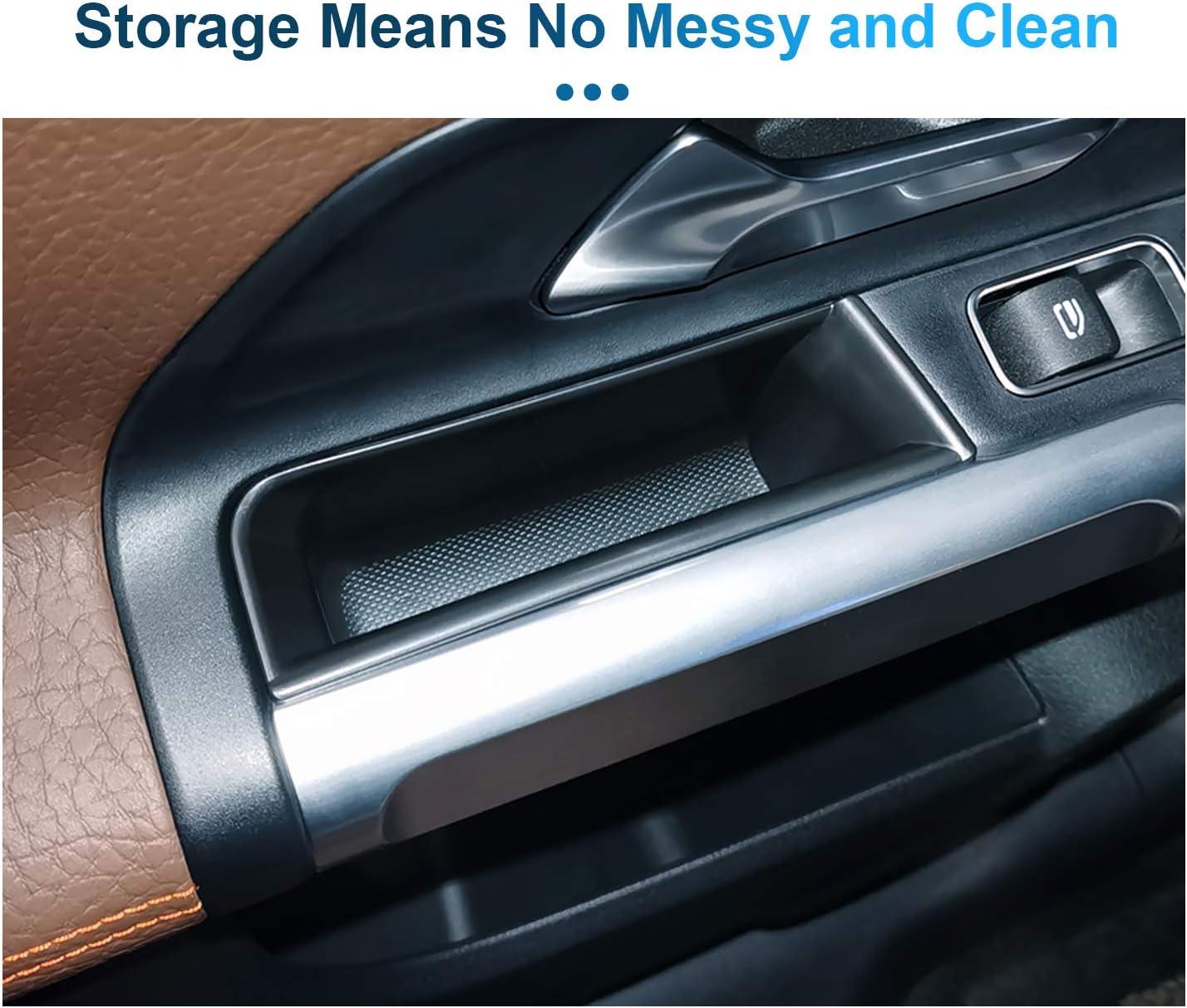 LFOTPP compatibile con classe B GLB auto anteriore maniglia porta braccioli contenitore contenitore 4 pezzi