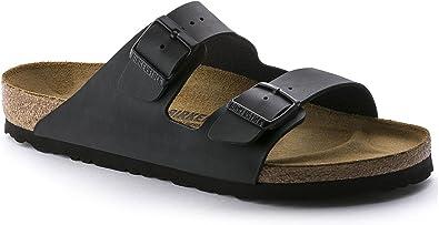 Arizona 'Narrow Fit' Women's (Cork Footbed) Sandal, Synthetic Birko Flor, Matte Black 38 N EU 7 7.5 2A(N) US