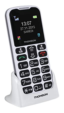 ede1cc3e182c86 Thomson Serea 51 Téléphone Mobile Compact Blanc  Amazon.fr  High-tech