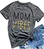 Mom Shirts for Women with Sayings Letter Print Tee Shirts Funny Cute Graphic Mom Tee Shirts Top