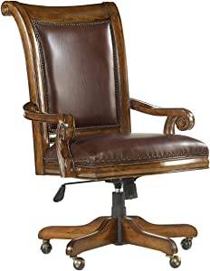 Hooker Furniture Tynecastle Swivel Desk Chair in Chocolate