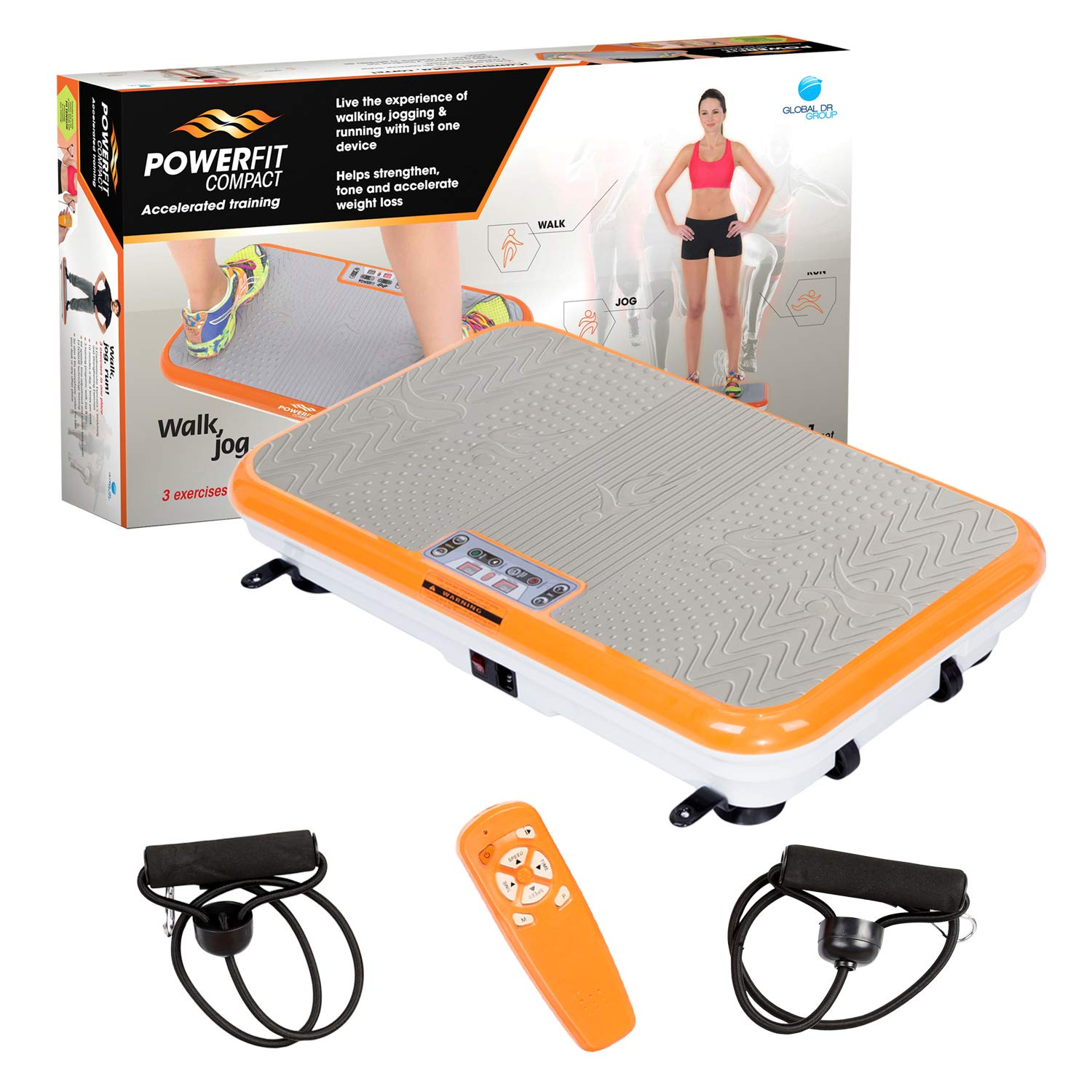 Power Fit Whole Body Vibration Exercise Platform - Home Workout Vibrating Step Equipment by Power Fit (Image #3)