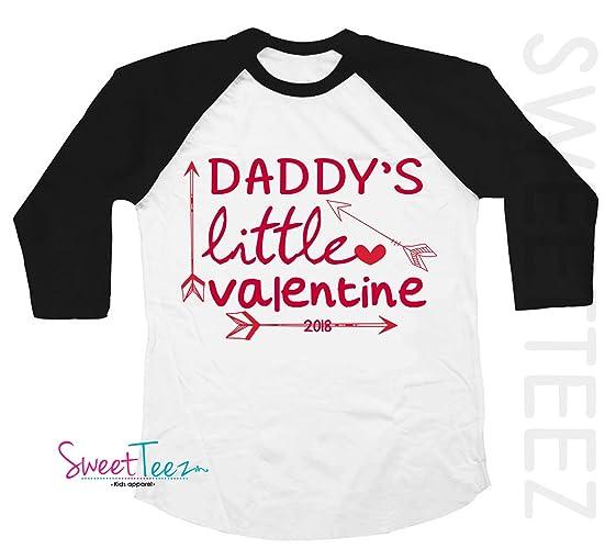 5b6f91448 Amazon.com: Valentine's Shirt for Girls Daddy's Little Valentine ...