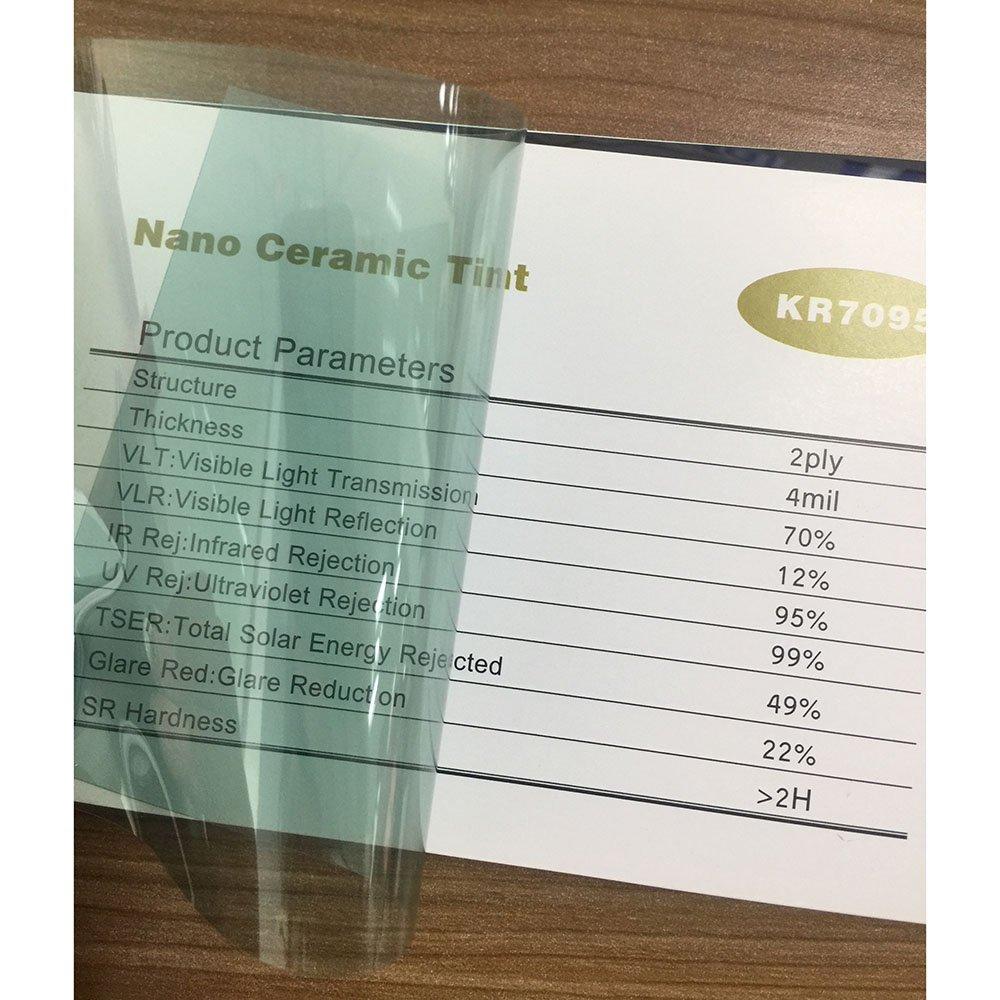 Film teint/é pour fen/être de voiture Hoho R/égulation de la chaleur Pour vitres arri/ère et lat/érales Protection de la vie priv/ée Nano c/éramique solaire