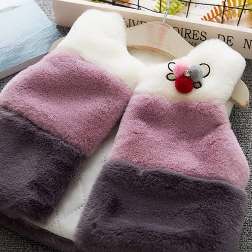 Anxinke Infants Girls Winter Soft Comfy Waistcoat