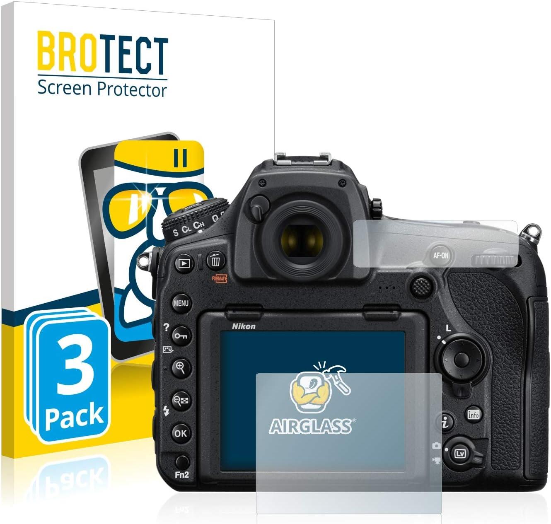 Anti-Fingerprint HD-Clear BROTECT Panzerglas Schutzfolie kompatibel mit Nikon D850 AirGlass 9H H/ärte