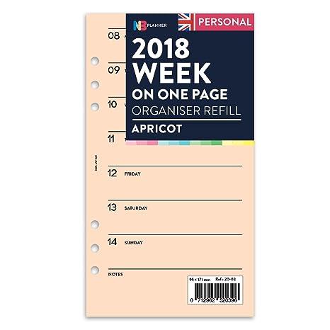 Recambio hojas de agenda NBplanner (toda la semana en una ...