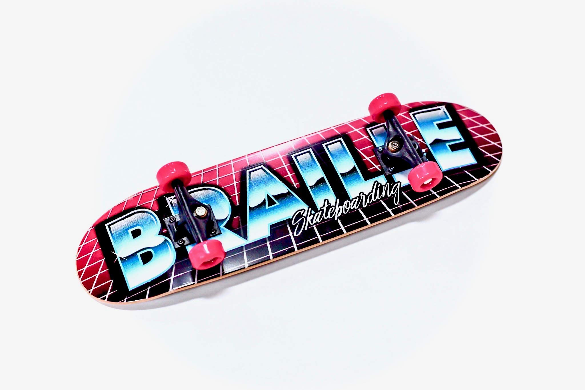 Braille Skateboarding Aaron Kyro 80's 11inch Professional Hand Board. Toy Skateboard Comes with Wheels, Trucks, Hardware and Tools. Real Griptape. by Braille Skateboarding (Image #4)
