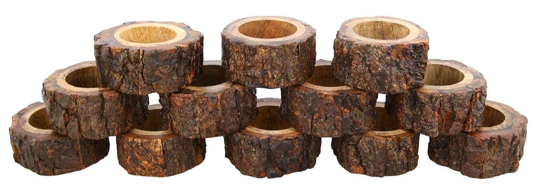 Shalinindia Handmade Rustic Wooden Napkin Rings Set of 4 for Table Decoration Ideas ShalinCraft 2018