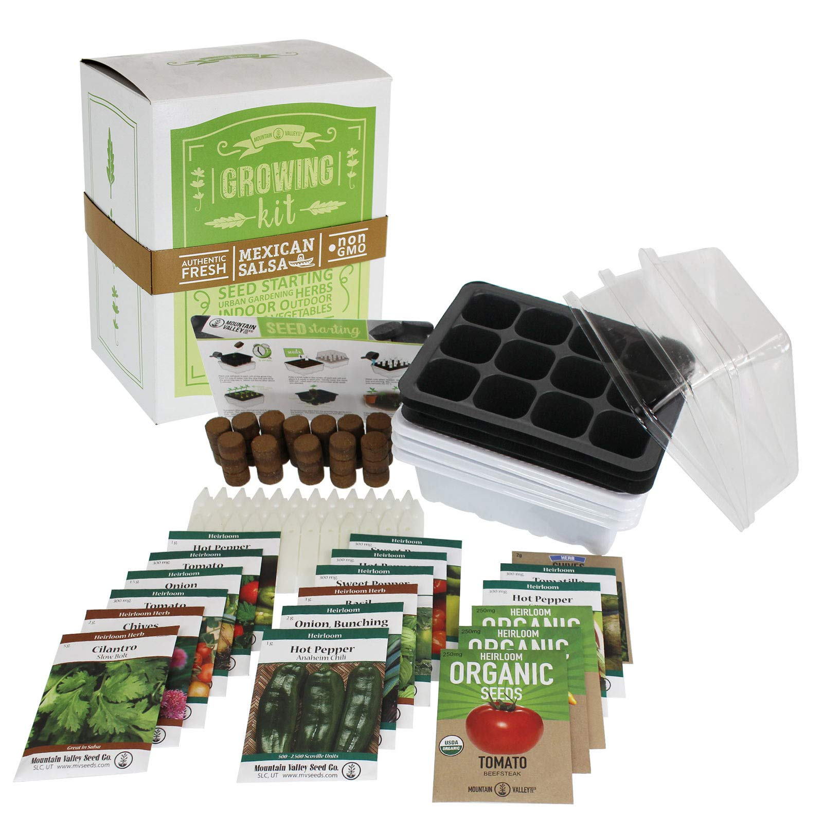 Salad & Vegetable Garden Seed Starter Kit | Premium Kit | 18 Non-GMO Varieties | Gardening Starter Kit | Seeds: Onion, Swiss Chard, Broccoli, Snap Pea, Spinach, Lettuce, Tomato & More by Mountain Valley Seed Company (Image #1)