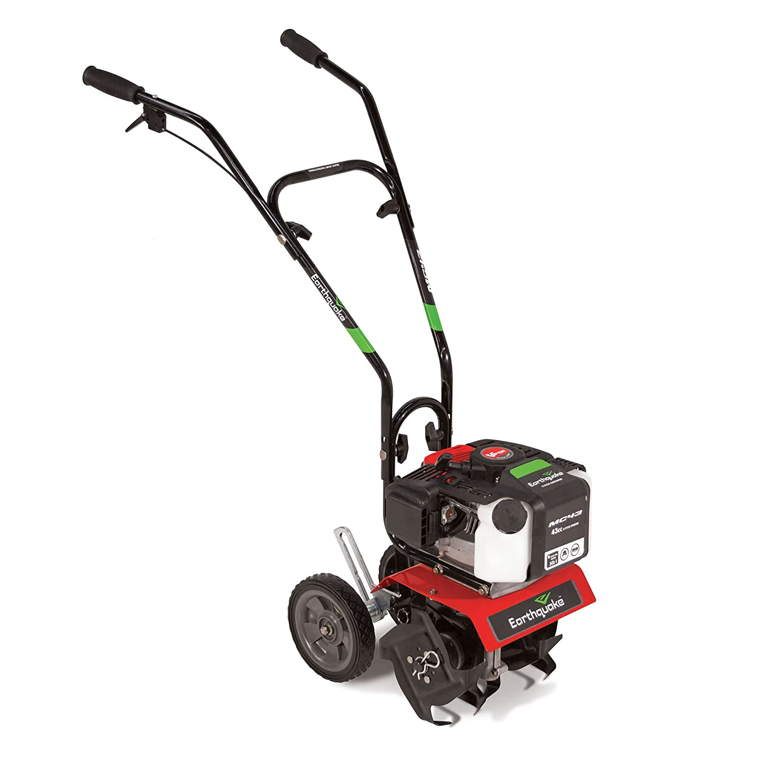 This garden tiller is easy to move around. It is gas powered which is suitable for garden estates.