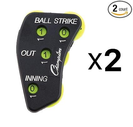 8074e57d5 Amazon.com   Champion 4-Wheel Baseball Softball Umpire Indicator Count  Clicker (2-Pack)   Sports   Outdoors