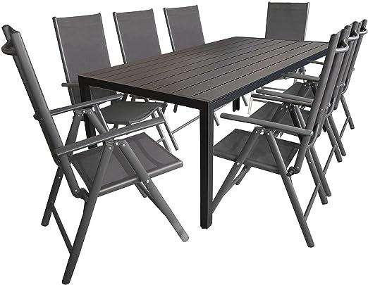 WOHAGA - Muebles de jardín, Mesa de Aluminio Berlin 200 x 90 cm ...