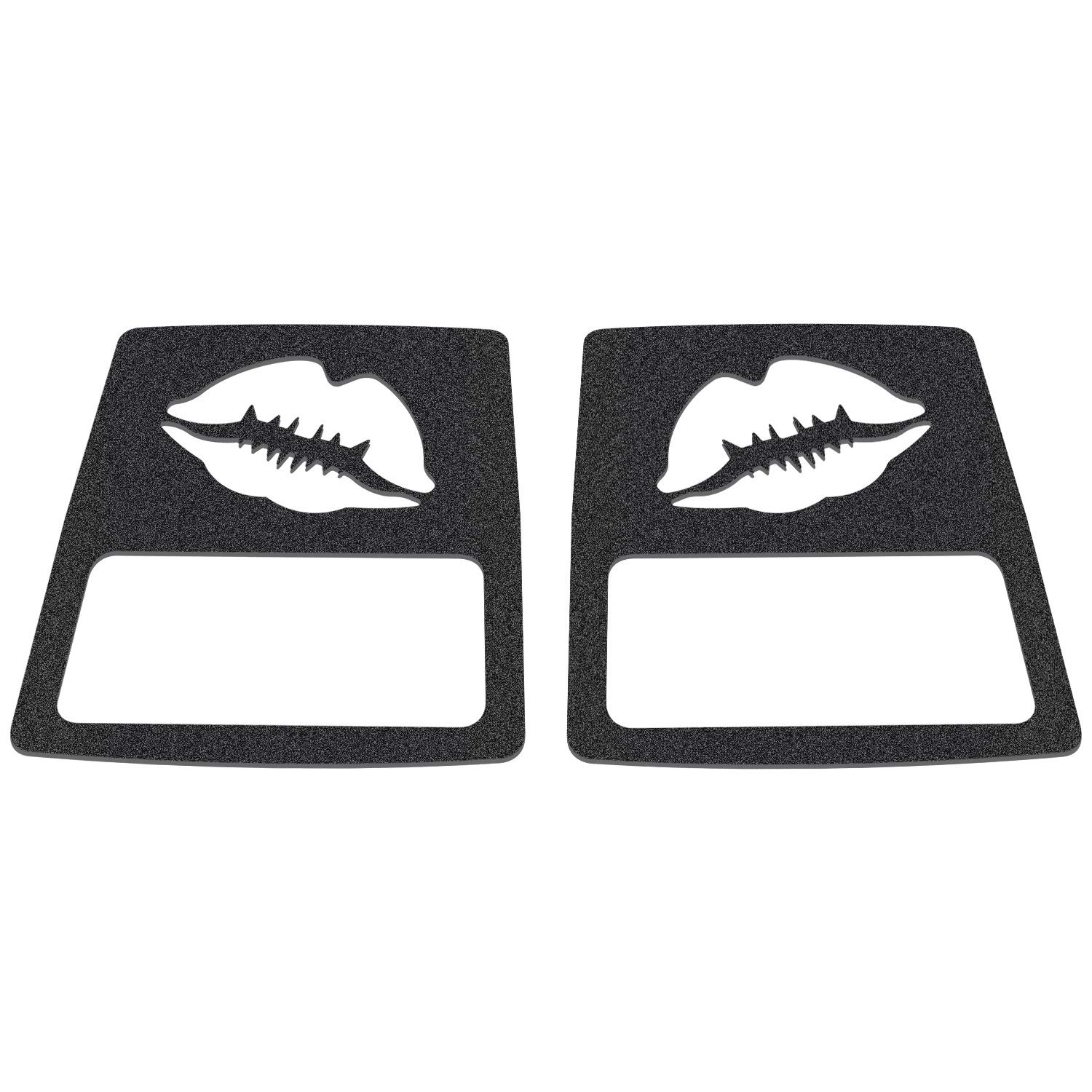 Pair Yoursme Tail Light Covers Matte Black Lip Rear Taillight Lamp Guard Protector for 2018 Jeep Wrangler JL Sport//Sports 5559058318 Lip Style