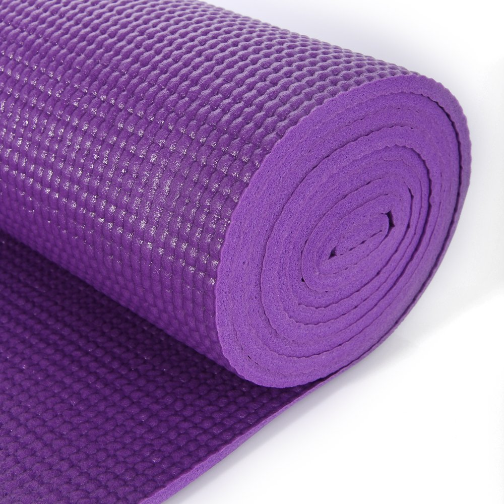 MASIONE Yoga Mat Thick Exercise Mat Yoga Pad Yoga Mats Bag Set Non-Slip Camping Pad 68'' x 24'' 6mm 1/4-Inch Thick Pilates Mat Floor Mat Camping Mat For Fitness ( Purple ) by Masione (Image #4)
