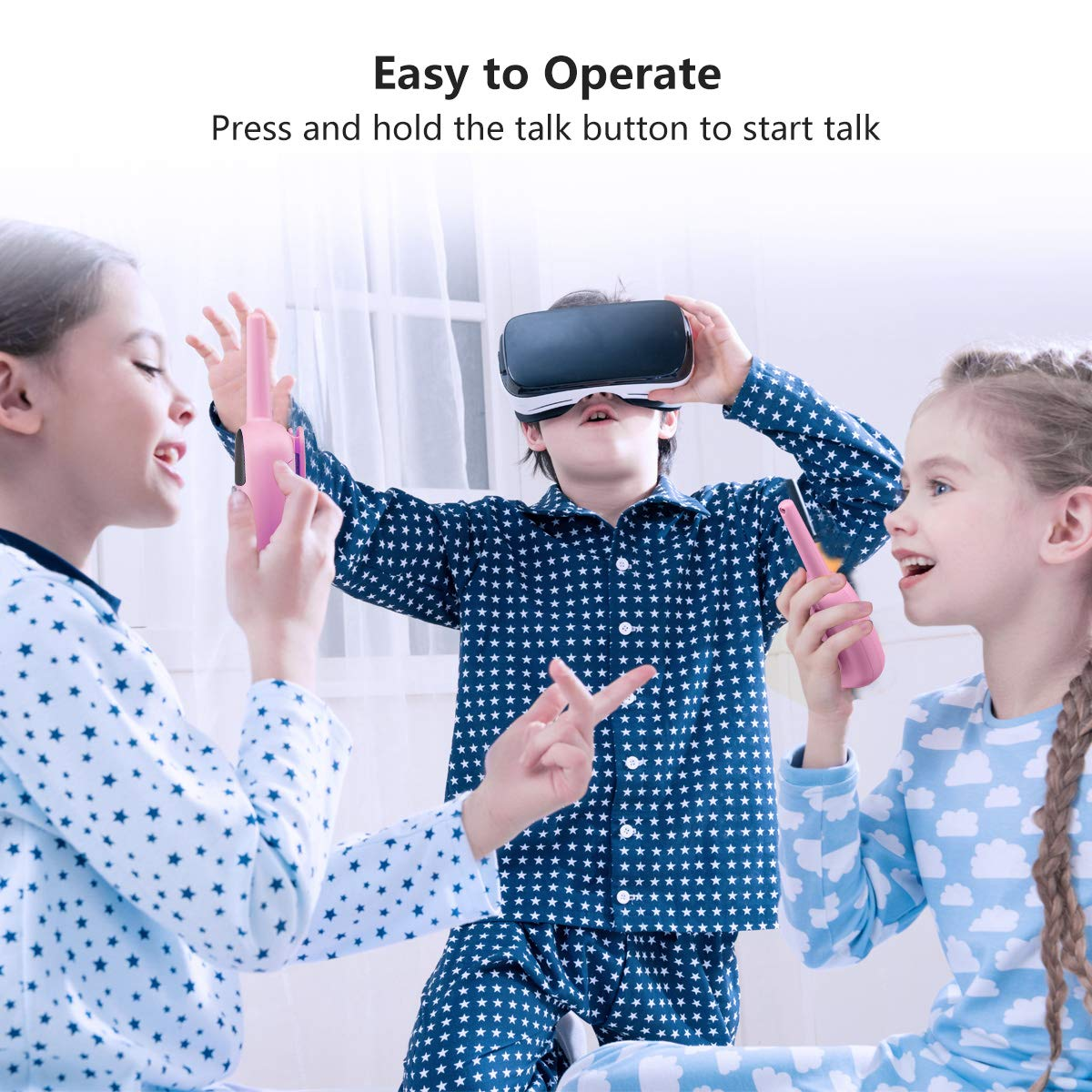 Blue MAX 5000M Open Field floureon Kids Walkie Talkies Two Way Radios 22 Channel 3000M UHF Long Range Handheld Talkies Talky 8D35I6EM