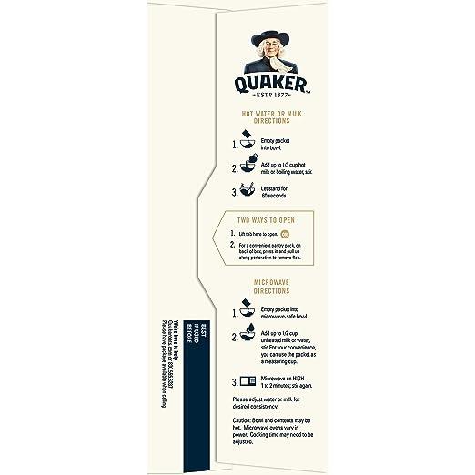 Quaker avena instantánea: Amazon.com: Grocery ...