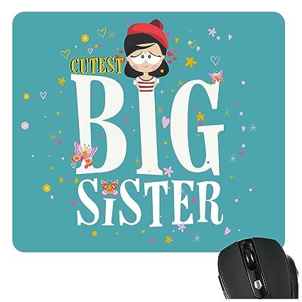YaYa CafeTM Bhaidooj Birthday Gift For Sister Mousepad Cutest Big Printed