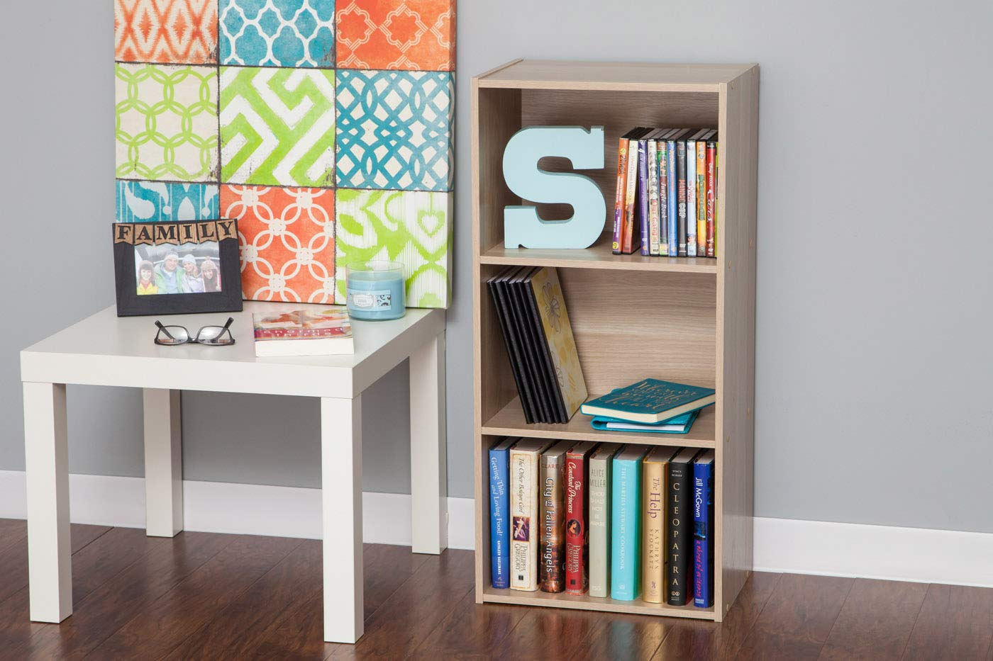 IRIS 3-Tier Basic Wood Bookcase Storage Shelf Dark Brown