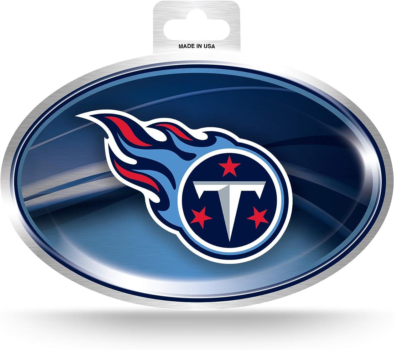 Amazon Com Nfl Rico Industries Metallic Team Logo Sticker Tennessee Titans Sports Outdoors