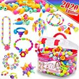 FunzBo Snap Pop Beads for Girls Toys - Kids Jewelry Making Kit Pop-Bead Art and Craft Kits DIY Bracelets Necklace…