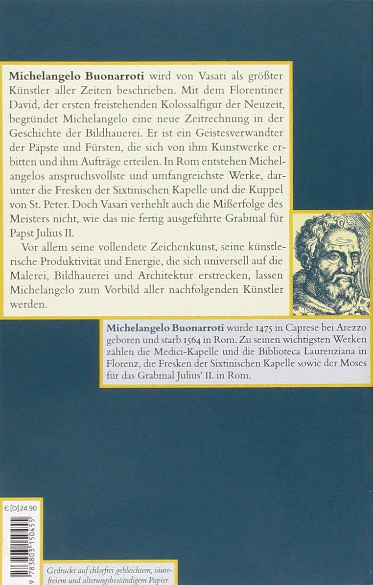 Das Leben Des Michelangelo Vasari Amazon Giorgio Vasari