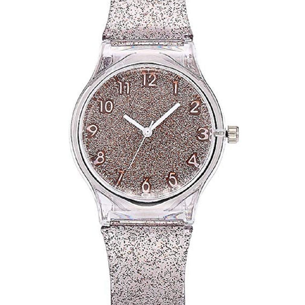 Mujeres Starry Sky Relojes Liquidación Relojes Femeninos Star Lady Relojes Relojes Reloj Plástico Transparente (Beige): Amazon.es: Relojes