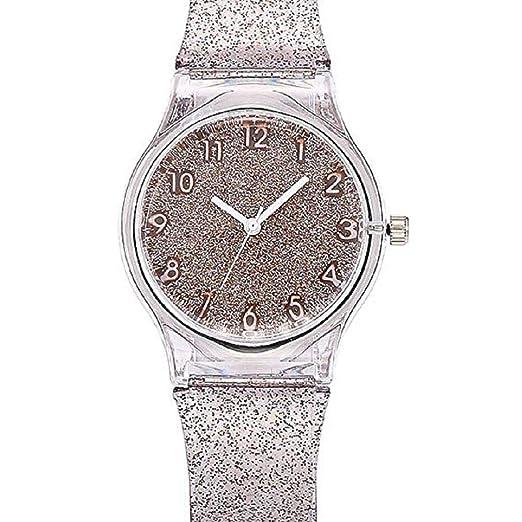 Mujeres Starry Sky Relojes Liquidación Relojes Femeninos Star Lady Relojes Relojes Reloj Plástico Transparente (Beige