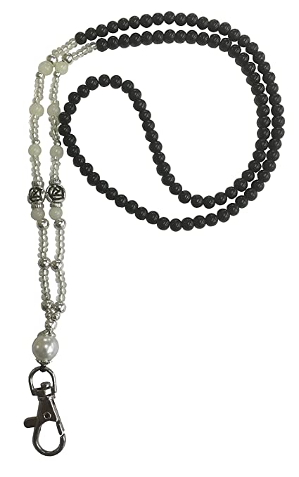 """a1ddc1b5f58f Collar de cuentas Customcard con perlas y cordón tipo """"Lanyard"""" para llevar  tarjeta identificativa"""