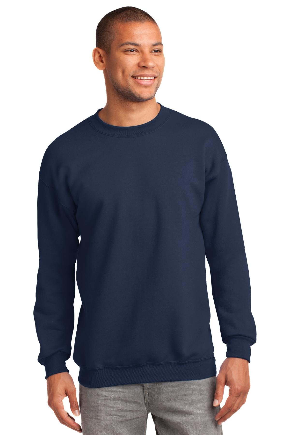 Port & Company Mens Tall Ultimate Crewneck Sweatshirt, Navy, XX-Large Tall