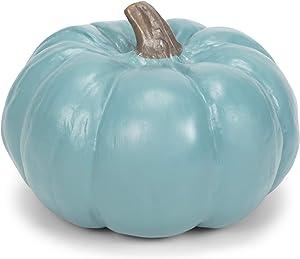 Elanze Designs Teal Blue 6 inch Resin Harvest Decorative Pumpkin