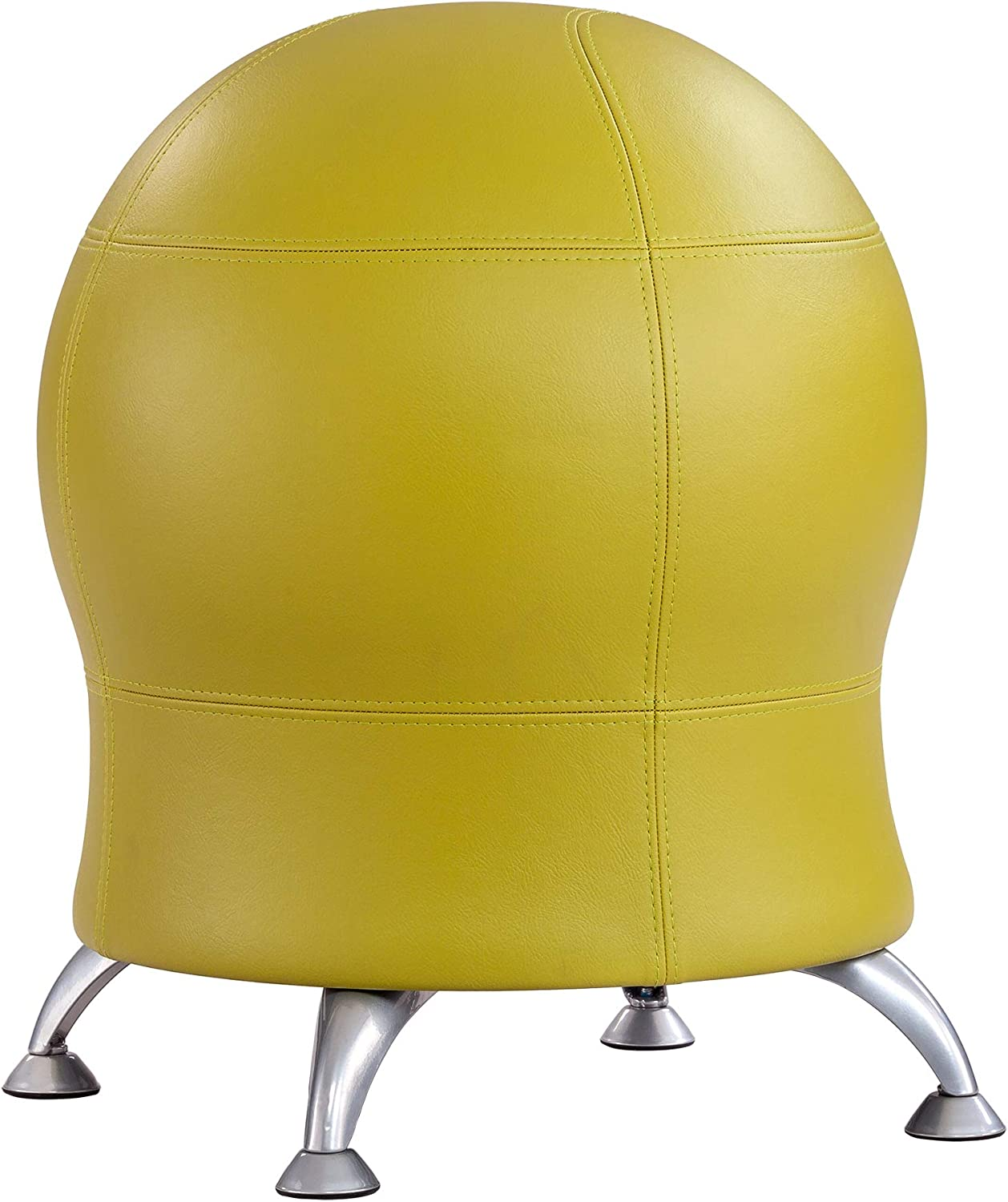 """Safco Products Zenergy Stability Exercise Ball Chair, 23"""" H or 20"""" H, Green Vinyl"""