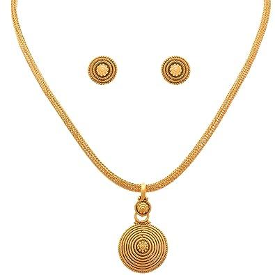 Buy jfl jewellery for less traditional ethnic one gram gold plated jfl jewellery for less traditional ethnic one gram gold plated pendant set for women aloadofball Image collections