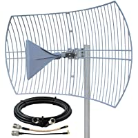 Griddy: The Grid Parabolic 4G LTE, 5G NR, and WiFi Antenna Kit by Waveform | Requires Line of Sight | Range: 40 km | 26…