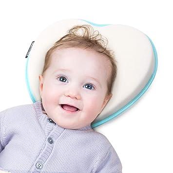 f656131a7ada1b Bammax Baby Kissen Baby Kopfkissen gegen Kopfverformung und Plattkopf  atmungsaktives Orthopädisches babykissen für Säulinge und Kleinkinder