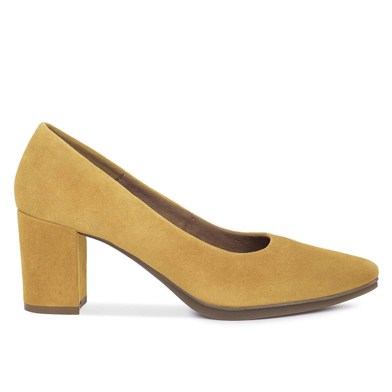Zapatos Salón. Zapatos Piel Mujer Hechos EN ESPAÑA. Zapatos Tacón Mostaza. Zapato Mimao. Zapatos Mujer Tacón. Zapatos Mujer Fiesta y Baile Latino. Zapato Cómodo Mujer con Plantilla Confort Gel