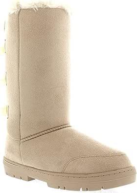 Womens Triplet Bow Tall Classic Waterproof Winter Rain Snow Boots