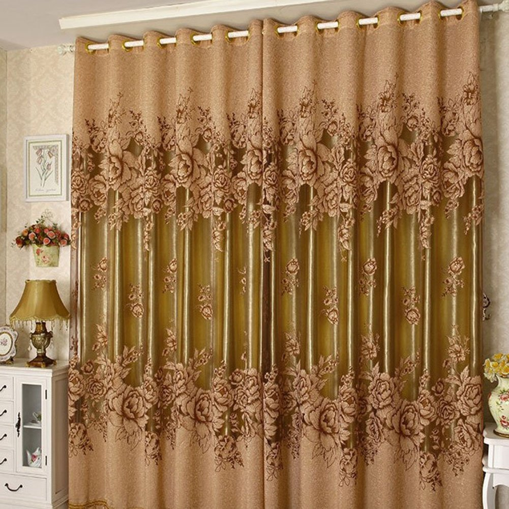 Amazon.com: Edal Romantic Modern Floral Peony Tulle Living Room Drapery  Valances Window Curtain: Home U0026 Kitchen
