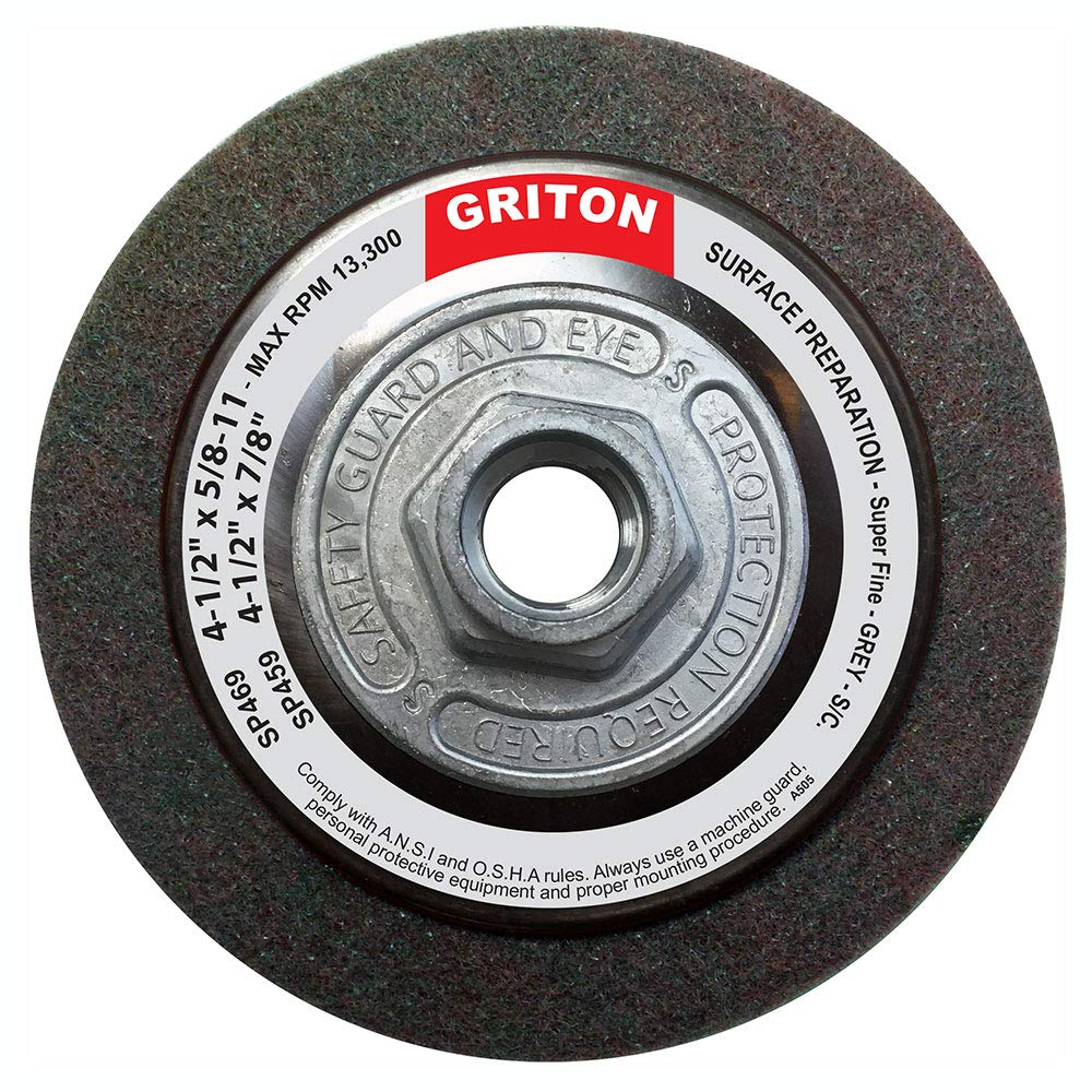 Griton SP469 Hub Silicon Carbide Super Fine Surface Preparation Wheel, 4-1/2'' x 5/8'' (Pack of 10) by Griton