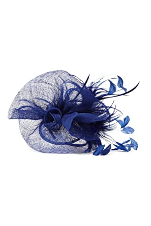 6a92574d Roman Originals - Womens Hats Fascinators Extravagant Sinamay Fascinator  Flower Feathers - Feather Sinamay - Occasion Derby Races Royal Ascot Wedding  ...