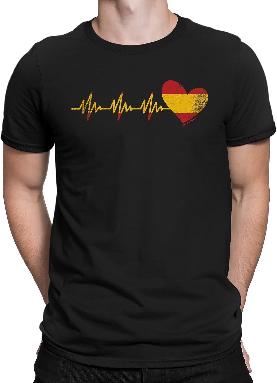 buzz shirts Spain Heartbeat Mens T-Shirt Spain Espana Spanish Gift: Amazon.es: Ropa y accesorios